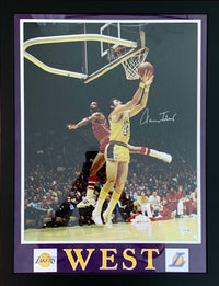 Jerry West autographed signed 16x20 framed NBA Los Angeles Lakers Fanatics - JAG Sports Marketing