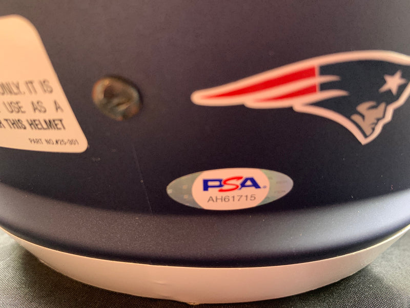 Stephon Gilmore autographed signed Full Size AMP Rep Helmet Patriots PSA COA - JAG Sports Marketing