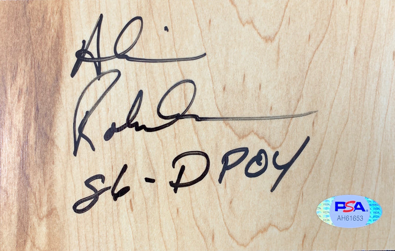 Alvin Robertson signed inscribed floor board NBA San Antonio Spurs PSA COA - JAG Sports Marketing