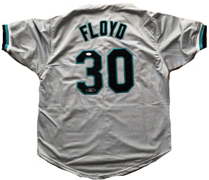 Cliff Floyd autographed jersey MLB Florida Marlins JSA COA World Series