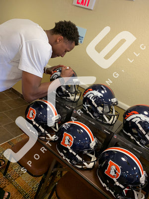 Courtland Sutton autograph signed inscribed Full Size Helmet Denver Broncos PSA - JAG Sports Marketing