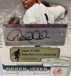 Derek Jeter autographed signed Card 1/1 NY Yankees 2004 SP Authentic Upper Deck - JAG Sports Marketing