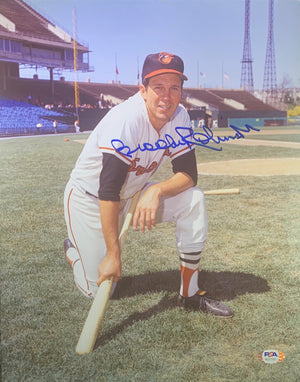 Brooks Robinson autographed signed 11x14 photo MLB Baltimore Orioles PSA COA - JAG Sports Marketing