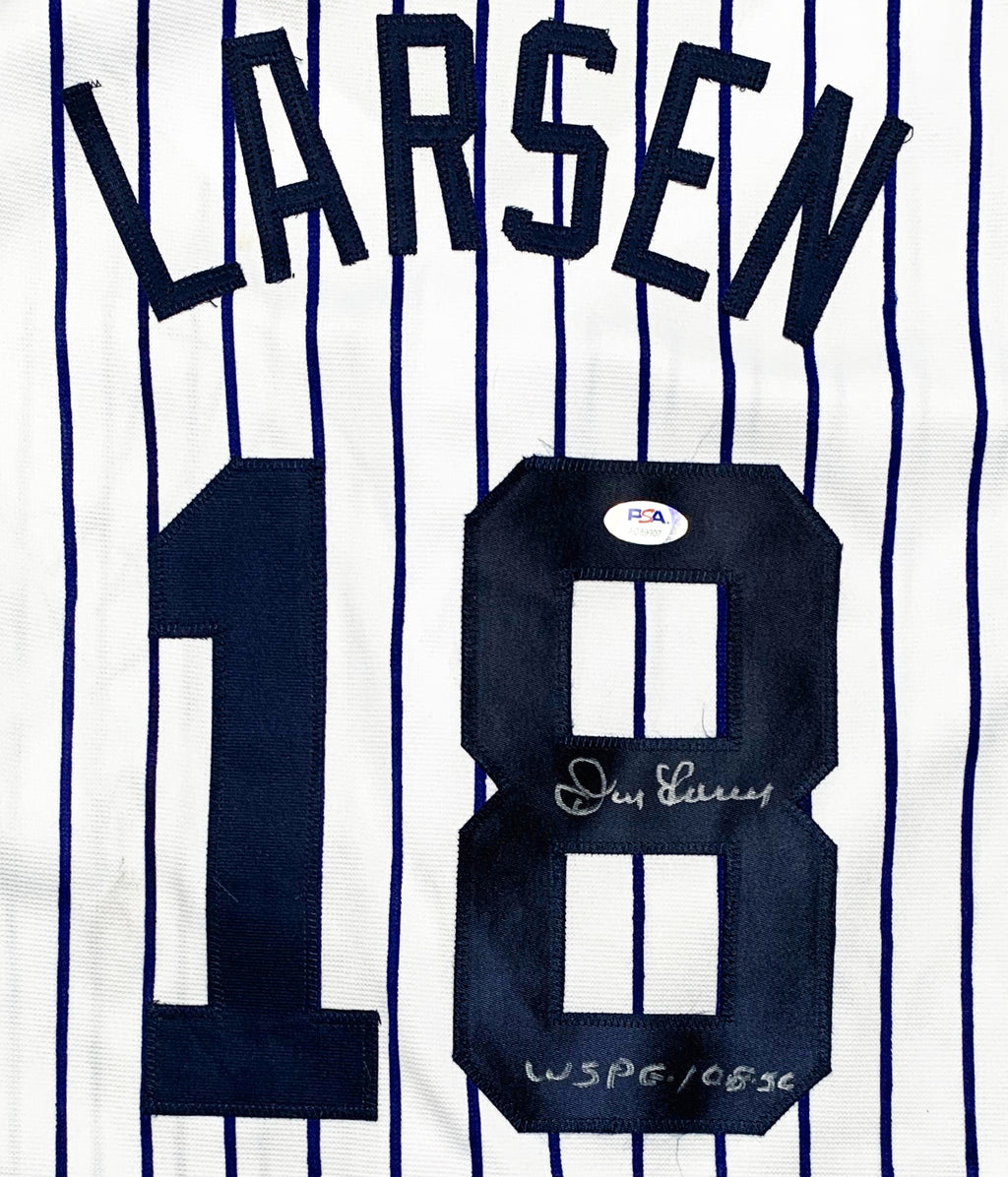 Don Larsen autographed signed inscribed jersey MLB New York Yankees PSA COA - JAG Sports Marketing