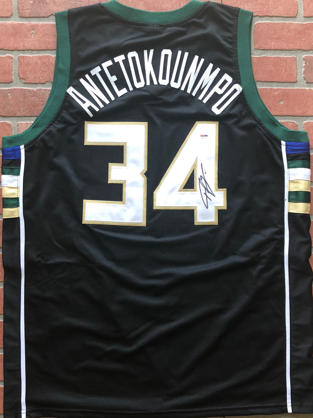 Giannis Antetokounmpo autographed jersey NBA Milwaukee Bucks PSA - JAG Sports Marketing