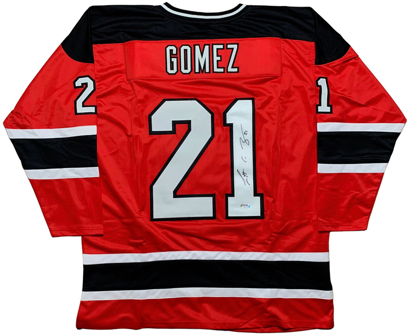 Scott Gomez autographed signed jersey NHL New Jersey Devils PSA COA - JAG Sports Marketing