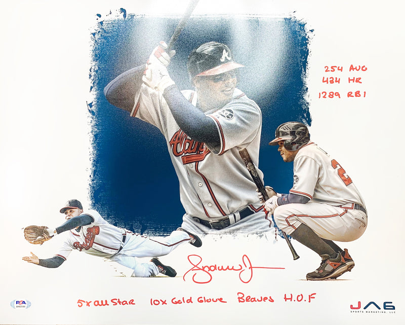Andruw Jones autographed signed inscribed 16x20 photo MLB Atlanta Braves PSA COA - JAG Sports Marketing