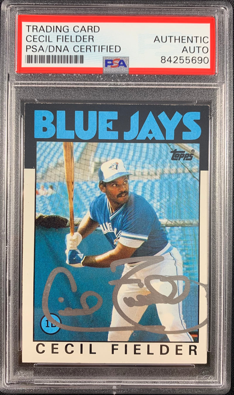 Cecil Fielder signed rookie card Topps #386 Toronto Blue Jays PSA Encapsulated - JAG Sports Marketing