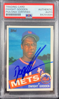 Dwight Doc Gooden signed rookie card Topps #620 New York Mets PSA Encapsulated - JAG Sports Marketing