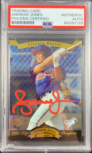 Andruw Jones signed rookie card Upper Deck #15 Atlanta Braves PSA Encapsulated - JAG Sports Marketing