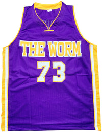 Dennis Rodman autographed signed jersey NBA Los Angeles Lakers PSA COA The Worm - JAG Sports Marketing