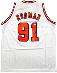 Dennis Rodman autographed signed jersey NBA Chicago Bulls PSA COA The Worm - JAG Sports Marketing