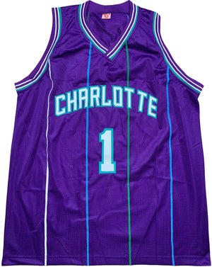 Muggsy Bogues autographed signed jersey NBA Charlotte Hornets PSA COA - JAG Sports Marketing