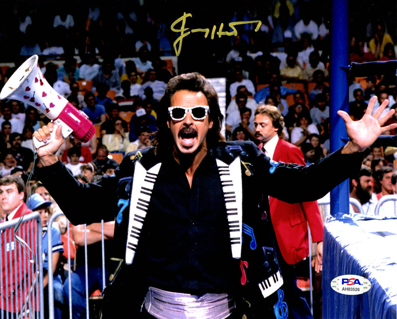 Jimmy Hart autographed signed 8x10 photo WWE PSA COA Mouth of the South - JAG Sports Marketing