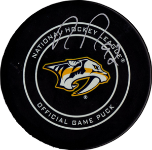 Ryan Johansen autographed signed authentic puck NHL Nashville Predators PSA COA - JAG Sports Marketing