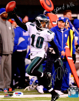 Desean Jackson autographed inscribed 8x10 NFL Philadelphia Eagles PSA Photo File - JAG Sports Marketing