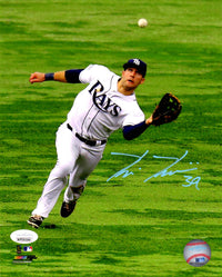 Kevin Kiermaier autographed signed 8x10 photo MLB Tampa Bay Rays JSA COA - JAG Sports Marketing