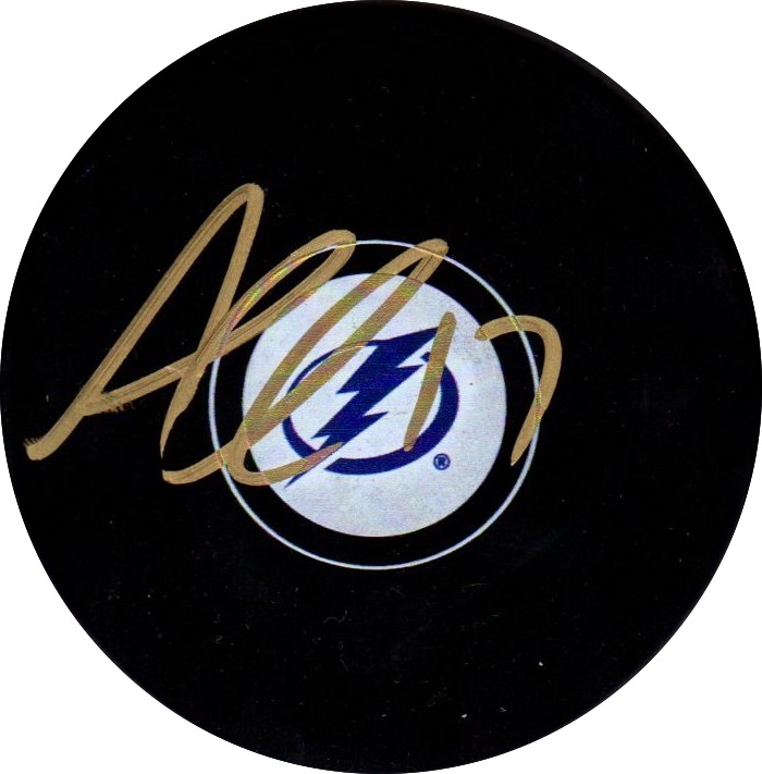 Alex Killorn autographed signed puck NHL Tampa Bay Lightning PSA w/COA