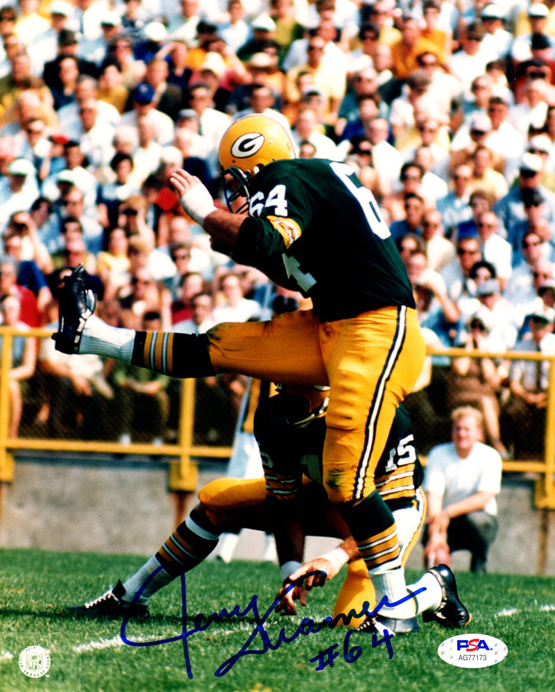 Jerry Kramer autographed signed 8x10 photo NFL Green Bay Packers PSA COA - JAG Sports Marketing