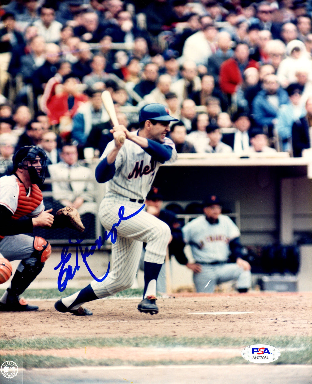 Ed Kranepool autographed signed MLB New York Mets 8x10 photo PSA COA - JAG Sports Marketing