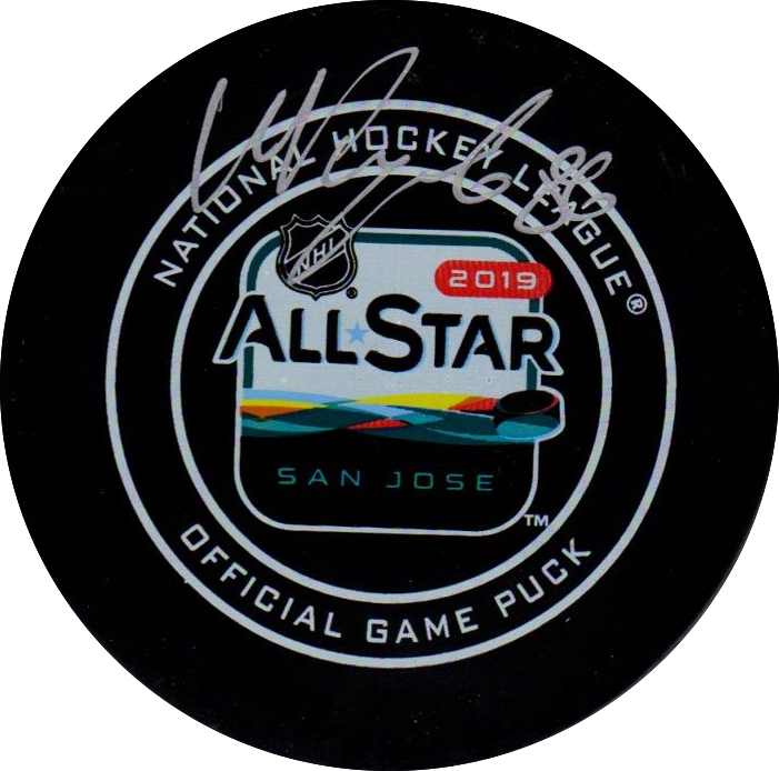 Nikita Kucherov autographed signed All Star puck NHL Tampa Bay Lightning PSA