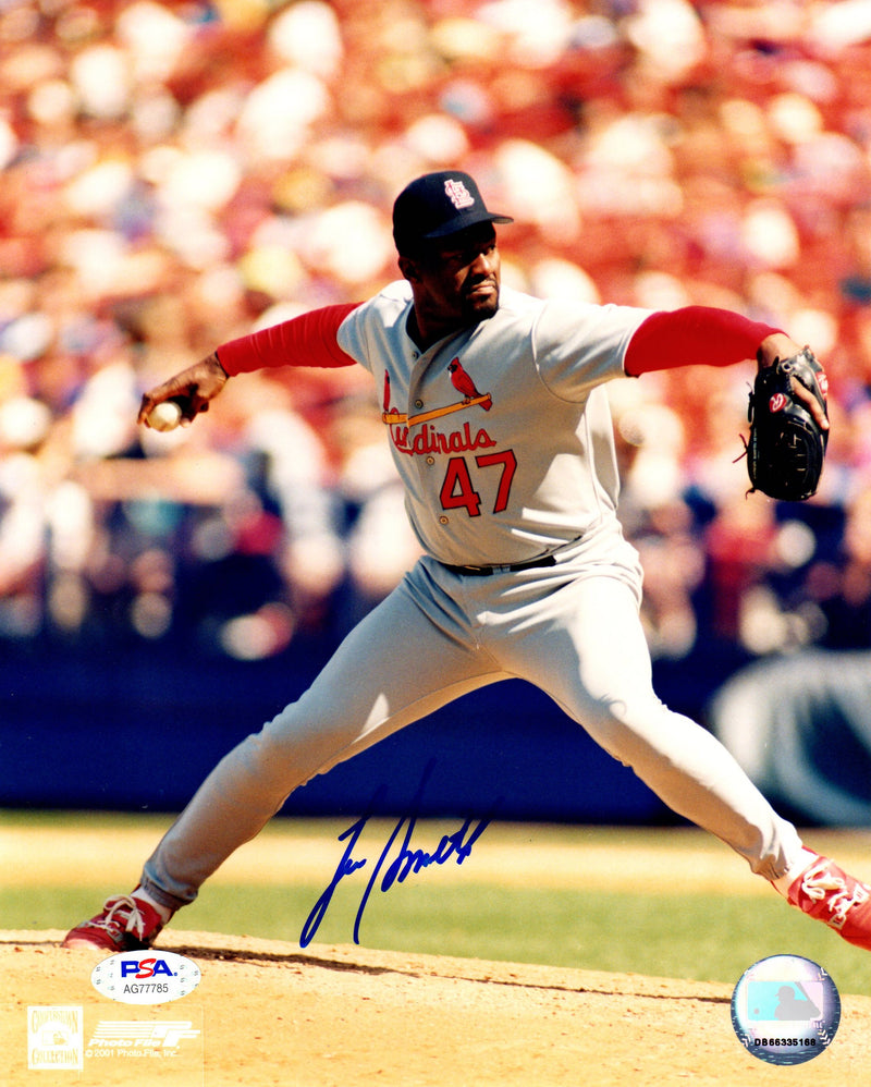 Lee Smith autographed signed 8x10 photo MLB St. Louis Cardinals PSA COA - JAG Sports Marketing