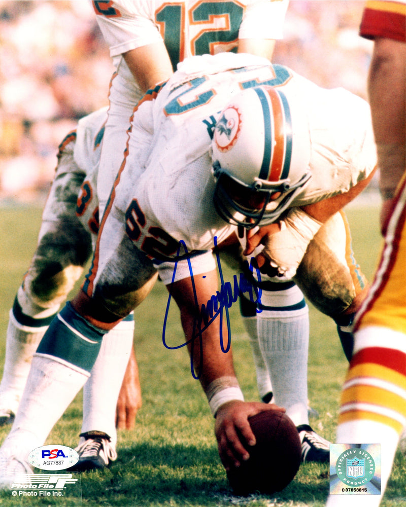 Jim Langer autographed signed 8x10 photo NFL Miami Dolphins PSA COA - JAG Sports Marketing