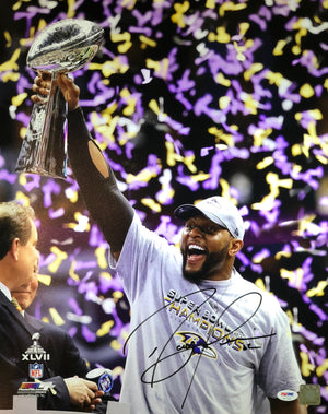 Ray Lewis Autographed 16x20 Photo NFL Baltimore Ravens PSA w/COA - JAG Sports Marketing