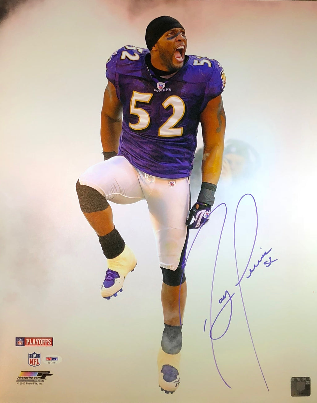 Ray Lewis Autographed 16x20 Photo NFL Baltimore Ravens PSA w/COA
