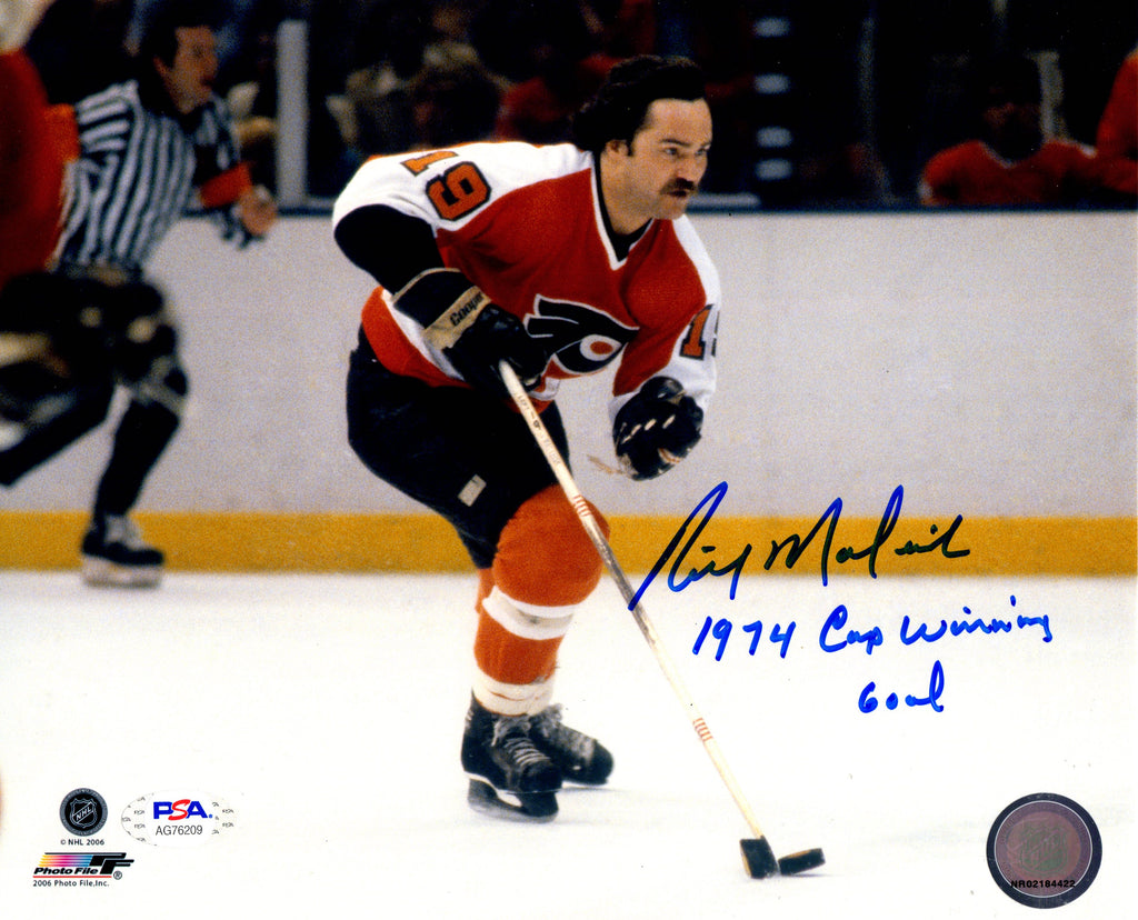 Rick Macleish autographed signed inscribed 8x10 photo Philadelphia Flyers PSA
