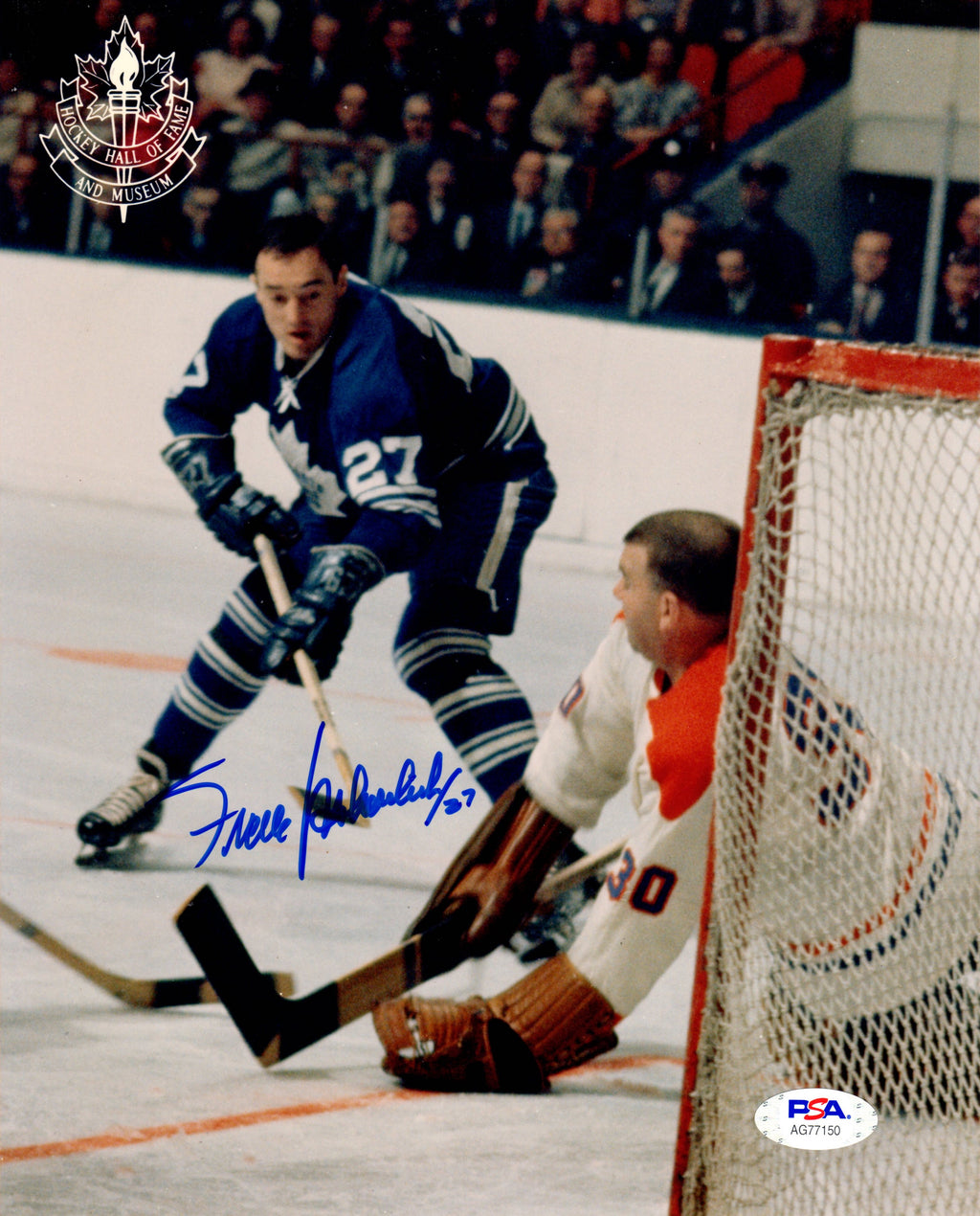 Frank Mahovlich autographed signed 8x10 photo NHL Toronto Maples Leafs PSA COA