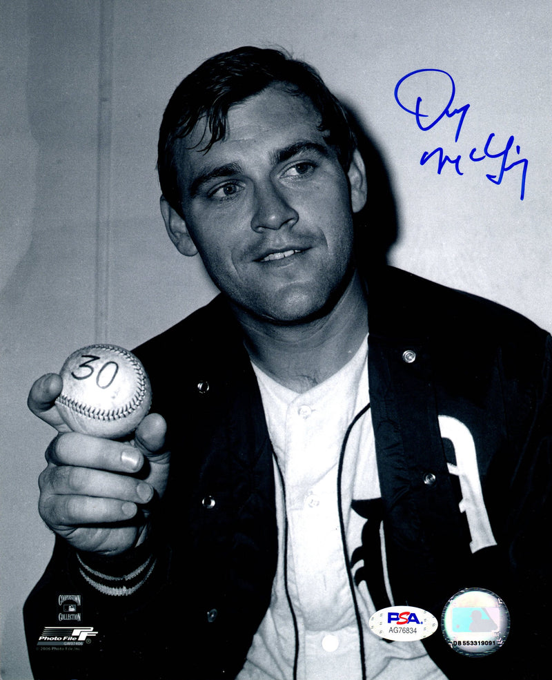 Denny McLain autographed signed MLB Detroit Tigers 8x10 photo PSA COA - JAG Sports Marketing