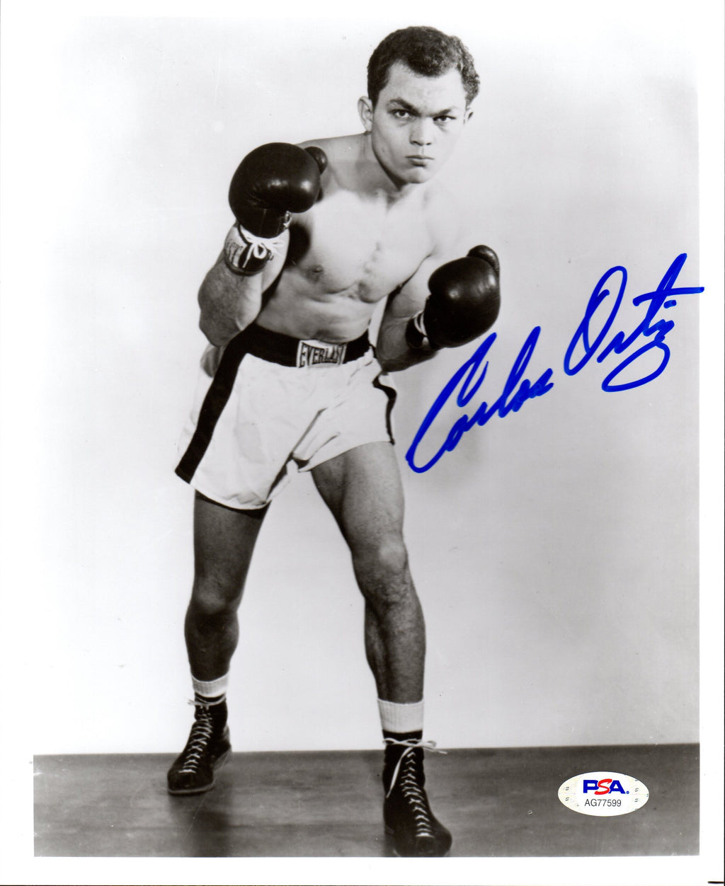 Carlos Ortiz autographed signed 8x10 photo Boxing PSA COA WBC Champion - JAG Sports Marketing