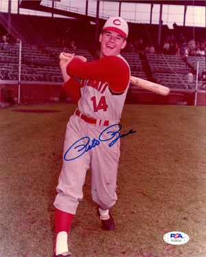 Pete Rose autographed signed 8x10 photo MLB Cincinnati Reds PSA COA - JAG Sports Marketing