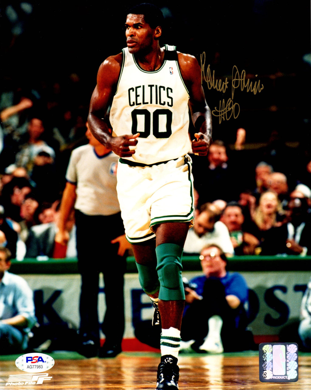 Robert Parish autographed signed 8x10 photo NBA Boston Celtics PSA COA - JAG Sports Marketing