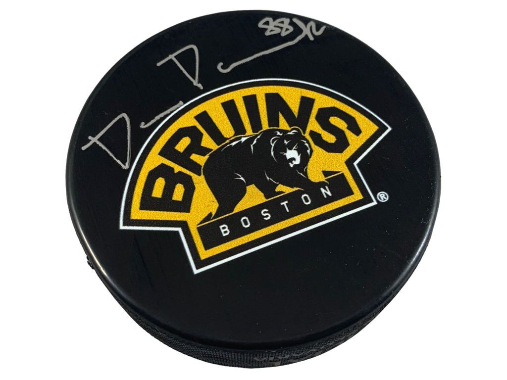 David Pastrnak signed puck NHL Boston Bruins David Pastrnak Player Hologram