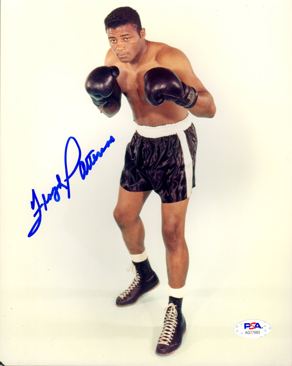 Floyd Patterson autographed signed 8x10 photo Boxing PSA COA WBA Champion - JAG Sports Marketing
