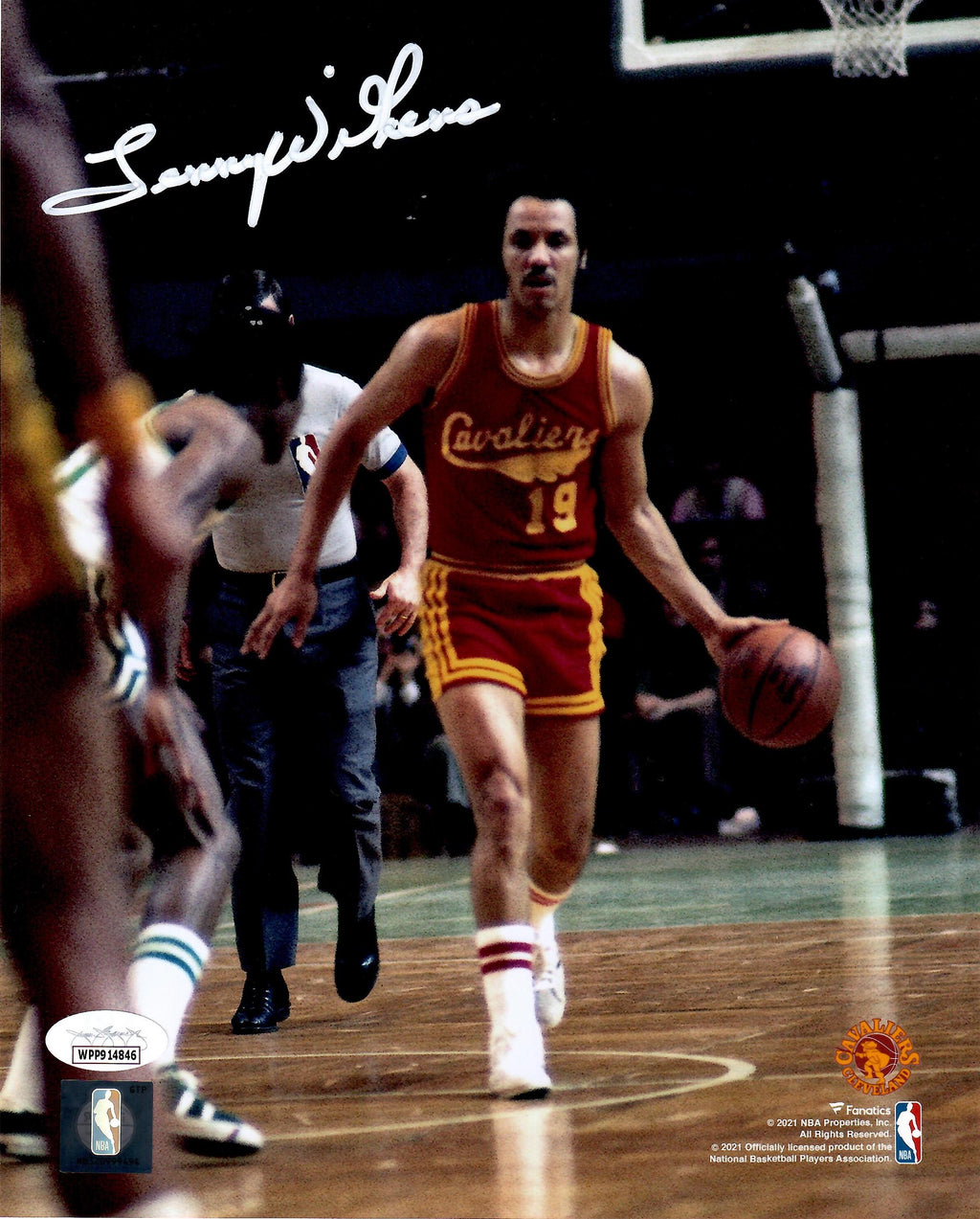 Lenny Wilkens autographed signed 8x10 photo NBA Cleveland Cavaliers JSA COA - JAG Sports Marketing