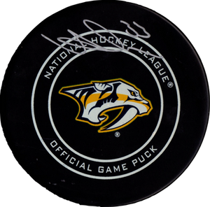 Viktor Arvidsson autographed signed authentic puck NHL Nashville Predators PSA - JAG Sports Marketing