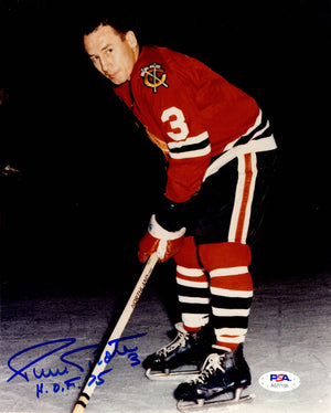 Pierre Pilote autographed signed inscribed 8x10 photo NHL Chicago Black Hawks PSA COA HOF - JAG Sports Marketing
