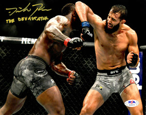 Dominick Reyes autographed signed inscribed 8x10 photo UFC The Devastator PSA - JAG Sports Marketing