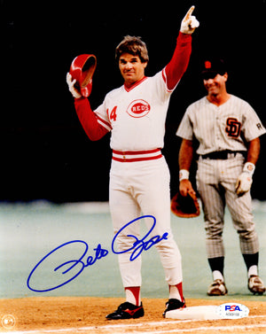 Pete Rose autographed signed 8x10 photo MLB Cincinnati Reds PSA COA Hit King - JAG Sports Marketing