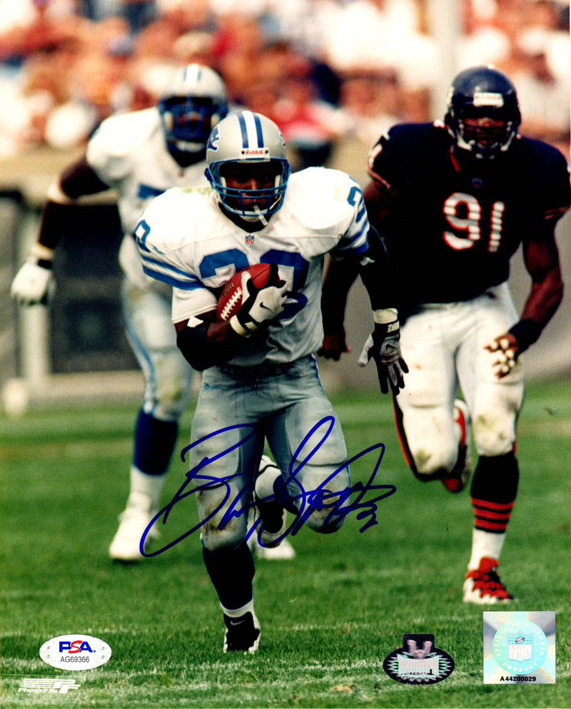 Barry Sanders autographed signed 8x10 photo NFL Detroit Lions PSA COA Triumph - JAG Sports Marketing