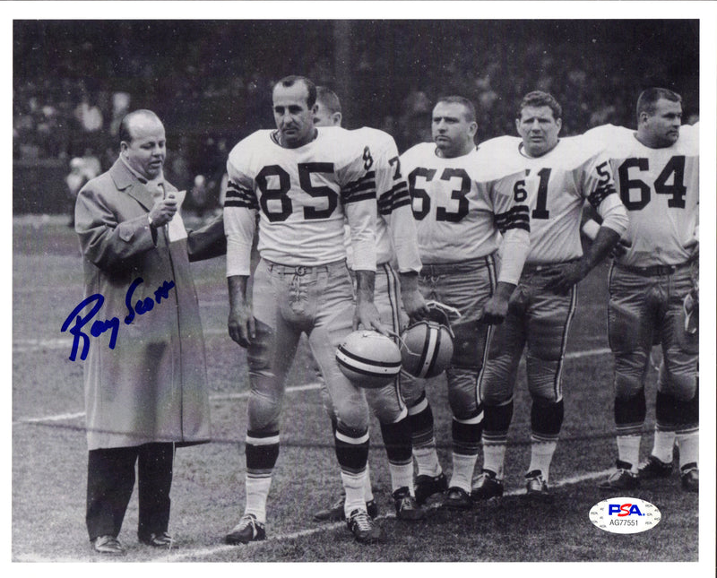 Ray Scott autographed signed 8x10 photo NFL Green Bay Packers PSA COA - JAG Sports Marketing