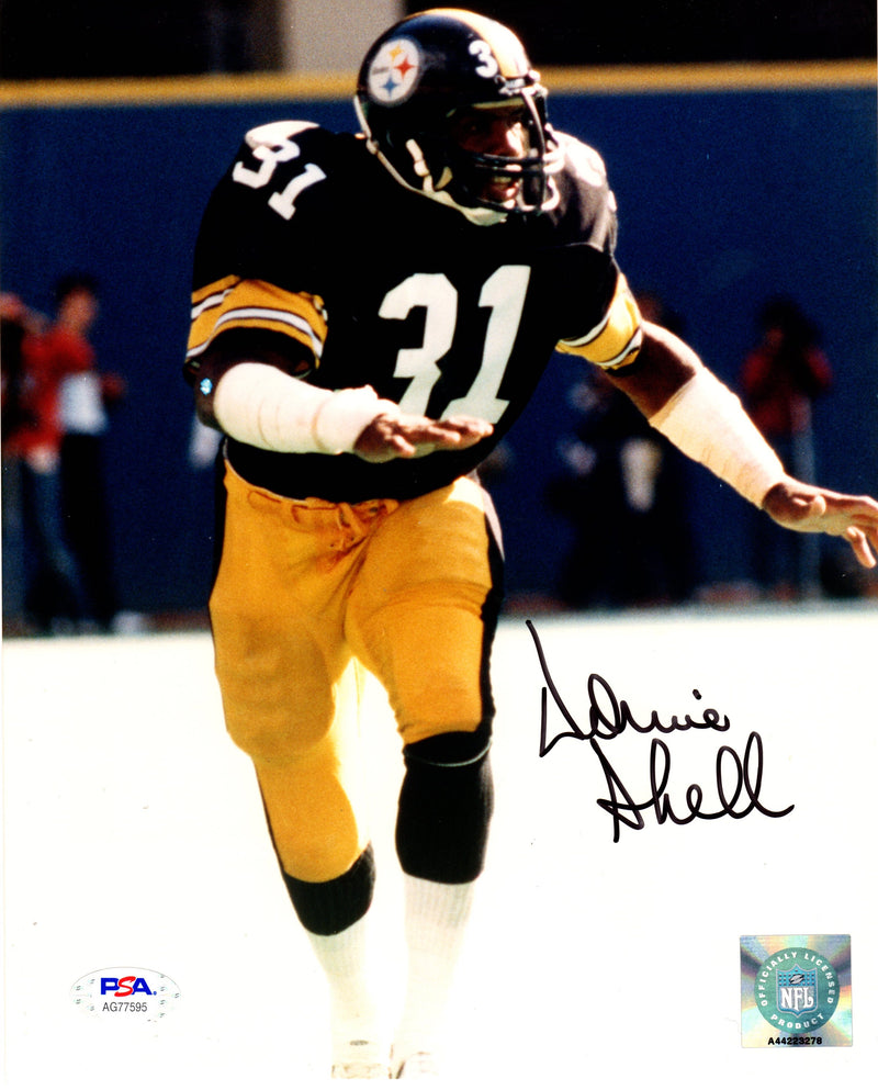 Donnie Shell autographed signed 8x10 photo NFL Pittsburgh Steelers PSA COA - JAG Sports Marketing