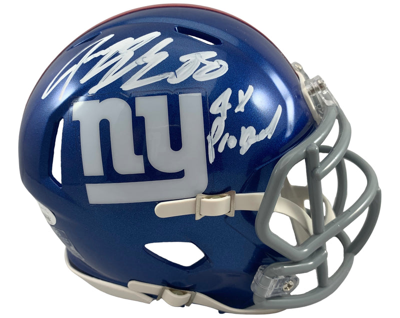 Jeremy Shockey autographed signed inscribed mini helmet New York Giants JSA COA - JAG Sports Marketing