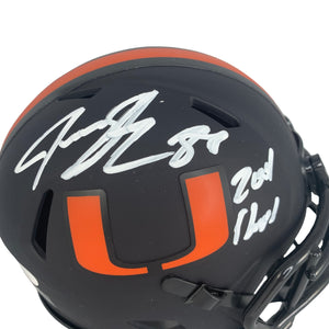 Jeremy Shockey autographed signed inscribed eclipse mini helmet Hurricanes JSA - JAG Sports Marketing