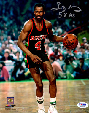 Sidney Moncrief autographed inscribed 8x10 photo NBA Milwaukee Bucks PSA - JAG Sports Marketing
