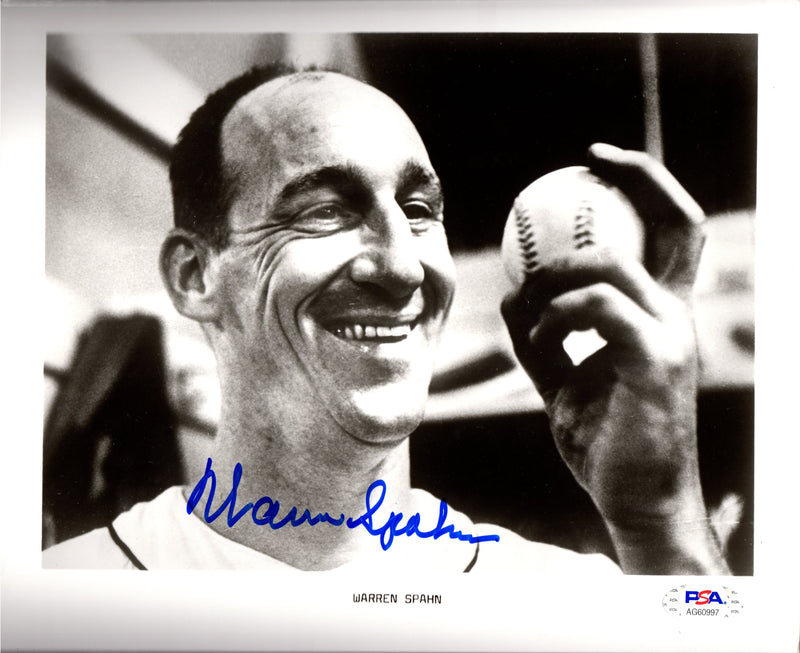 Warren Spahn autographed signed 8x10 photo MLB Boston / Milwaukee Braves PSA COA - JAG Sports Marketing