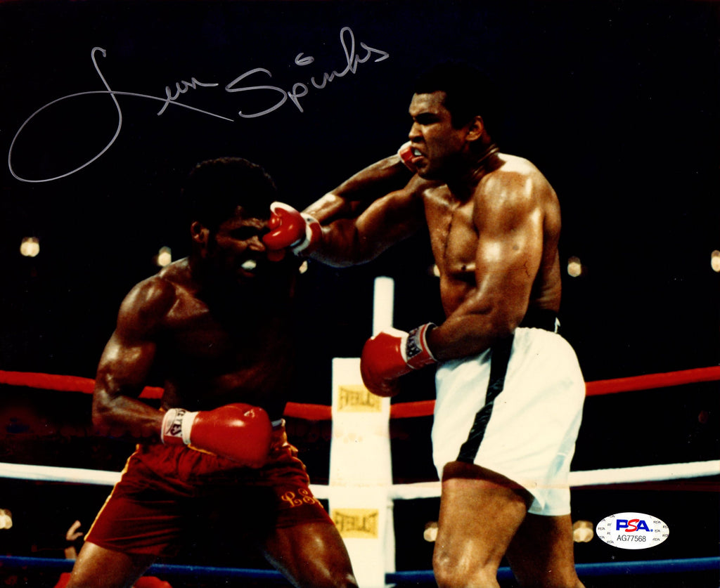 Leon Spinks autographed signed 8x10 photo Boxing PSA COA WBC Champion - JAG Sports Marketing